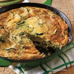 Gooseberry Patch Recipes: Savory Zucchini Frittata from Delicious Recipes for Diabetics Cookbook