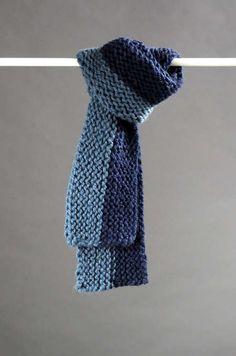 "Free Knitting Pattern: Make an easy, beginner-friendly ""Sideways"" scarf, courtesy of M Design Boutique."