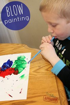 Looking at blow painting to use with three little pigs--turns out I'm not the first! Toddler Approved!: Blow Painting {Paul Galdone Virtual Book Club for Kids Blog Hop}