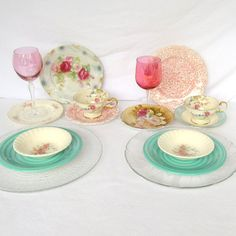 Mismatched China Table Place Settings for 2 16 by DesignWise4U, $75.00