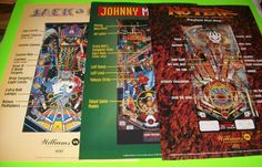 1995 Williams Johnny Mnemonic pinball super kit JM