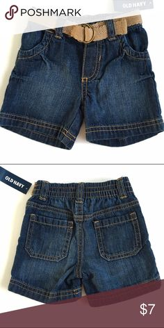 🚀Old Navy Boys Shorts 🚀 Old navy Boys denim shorts with elastic waist and attached belt (only on the front of the shorts. Real pockets. 🚀From my nephews closet, smoke and pet free home🚀 Old Navy Bottoms Shorts