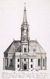 Stich der Parochialkirche von 1715