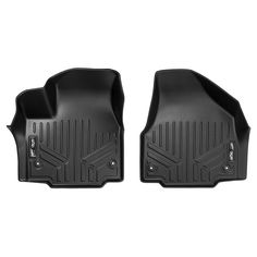 SMARTLINER Floor Mats Set Black for 2017-2019 Super Duty Crew with Vinyl Flooring and 2nd Row Bench Seat Both Rows 1pc