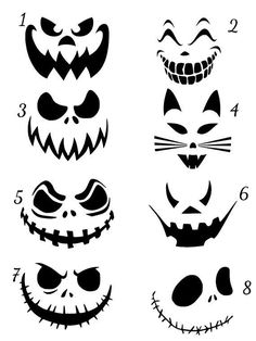 scary movie This is a listing for a Jack O Lantern Scary Faces Vinyl Decal Halloween Face - bemalte Steine Herbst Halloween - Halloween Stencils, Halloween Vinyl, Halloween Door, Halloween Jack, Halloween Stickers, Halloween Pumpkins, Halloween Crafts, Halloween Costumes, Halloween Tipps