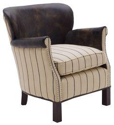 Harrow Chair Ticking Fudge