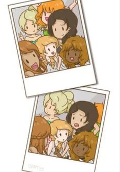 Annabeth, Calypso, Hazel, Piper, Rachel, and Reyna girls night out <3