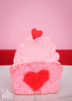 How to bake a heart inside your cupcake!