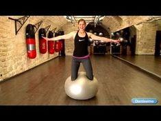 Abdos en beton : exercices Swiss ball - YouTube
