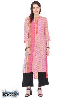 Ravishing Multi Coloured Cambric Cotton Kurti