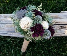 Wedding bouquet, Sola flower bouquet, alternative bouquet, Bridal bouquet, Bridesmaids bouquet