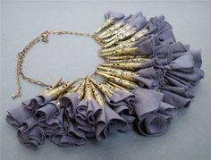 Modern Romance Fabric Flower Necklace by DesignTheory on Etsy, $80.00