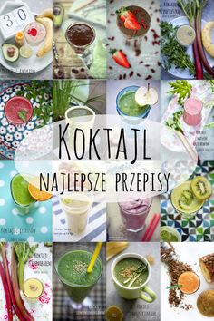 Koktajle - najlepsze przepisy Smoothies, Plant Based Recipes, Recipies, Health Fitness, Healthy Recipes, Meals, Cooking, Breakfast, Diet