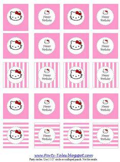 Free Printable Hello Kitty Party Circles