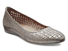 Look at this Moon Rock Touch Laser Cut Ballerina Leather Flat. Shop womens  shoes - ECCO ...