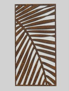 Laser Cut Metal Artwork Screen - Palm Frond for privacy story Laser Cut Screens, Laser Cut Panels, Laser Cut Metal, 3d Laser, Laser Cutting, Laser Cut Patterns, Decorative Screens, Metal Screen, Metal Artwork
