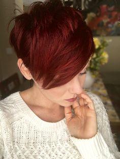 Red pixie cut