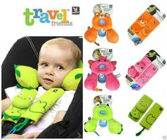 Benbat Infant Baby Travel Neck Support Pillow & Seat belt Strap Cover - Car Seat