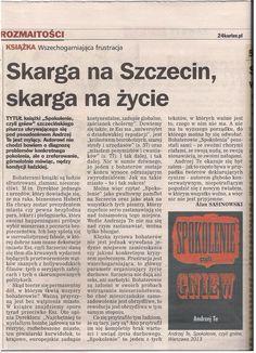 """Recenzja """"sPokolenie czyli gniew"""" w """"Kurierze Szczecińskim""""/Review of """"ScG"""" in """"Kurier Szczecinski"""""""