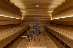 Here is some inspiration how to light up the sauna with LED strips!
