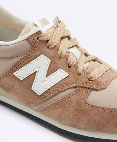 New Balance 420 Camel Suede Trainers | NEED
