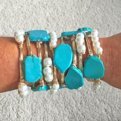 Turquoise + Pearl.