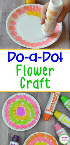 If you haven't used Do a Dot Markers before, you need to try them. Besides being mess-free, dot markers also help kids develop hand-eye coordination and strengthen their fine motor skills. This Do a Dot spring flower craft is so easy, making it great for younger kids and Kindergarten students - this is a great activity for early childhood education! Easy Arts And Crafts, Diy Crafts For Gifts, Crafts For Kids To Make, Holiday Crafts, Flower Crafts Kids, Toddler Crafts, First Grade Art, Kindergarten Art Projects, Do A Dot