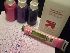 Make your own alcohol ink with acrylic paint