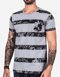 T-SHIRT LISTRAS TROPICAL 101850 - Hermoso Compadre