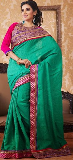 Fancy #Designer Green #Saree