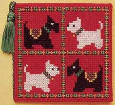 Textile Heritage Needle Case Counted Cross Stitch Kit - Scotties & Westies