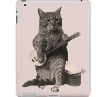 Cat Playing Banjo Guitar iPad Case/Skin