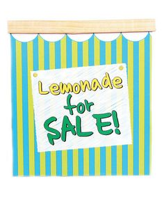 Carter has been begging for a lemonade stand. Just got this one on Zulily - $19.99 (reg. 50.00) Green Stripe Lemonade Stand by Summer Starts Here: Games & Toys on #zulily