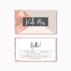 Business Card Design Premade Business Card Template by PeachCreme