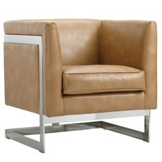 Update your living space with the modern Sunpan Soho Club Chair . Its comfortable cubed shape boasts bonded leather upholstery in select color options. Swivel Club Chairs, Swivel Armchair, Upholstered Dining Chairs, Chair Upholstery, Papasan Chair, Fabric Armchairs, Barrel Chair, High Fashion Home, Occasional Chairs
