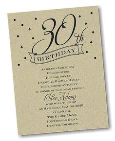 30th Confetti Birthday Party Invitation