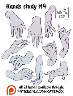 Hands study 4 by Kate-FoX on DeviantArt
