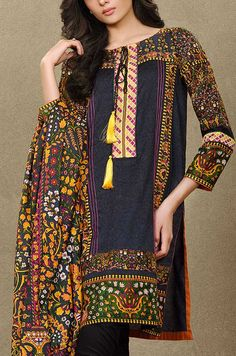 Buy Printed Cotton Lawn Salwar Kameez by Mausummery Lawn Spring Collection 2015.