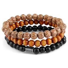 Buy Lucleon - Black and Brown Bracelet for only Shop at Trendhim and get returns. Black Bracelets, Bracelets For Men, Paracord Bracelets, Beaded Bracelets, Bracelets Bleus, Protrek, Engraved Bracelet, Stone Bracelet, Wooden Beads