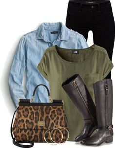 Dolce & Cabanna Leopard Print Bag casual outfit polyvore bmodish