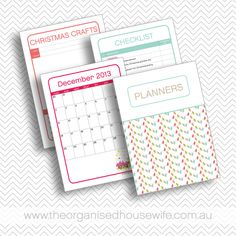 NEW – 2013 Christmas Planner....I LOVE these!!! I use one every year!!