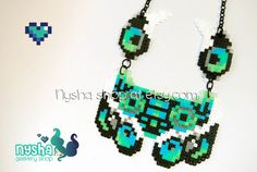 DJ Sona Kinetic Ethwal League of Legends handmade custom pixel art hama beads necklace