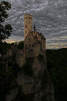 Castle Lichtenstein near Engstingen, Baden-Württemberg, Germany.