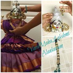 This video is a detailed explanation of decorating VaraMahaLakshmi's Idol for VaraLakshmi Vratham . Also watch my last video : https://youtu.be/xgwCYBljxMA S...