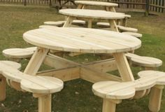 plans to build a round picnic table | Diy Woodworking Projects