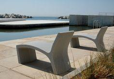 Contemporary lounge chair / engineered stone / outdoor / for public areas SILLARGA by Juan Carlos Inés & Gonzalo Milá Escofet