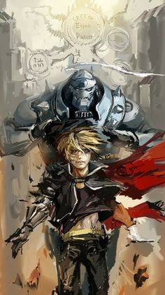 FMA Fullmetal Alchemist Brotherhood Alphonse and Edward Elric the Elric brothers