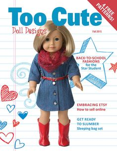 Too Cute Doll Designs  Fall 2015 Issue Doll by toocutedolldesigns