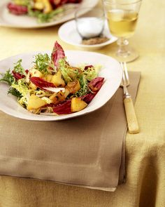 Mixed Chicories with Warm Apple Thyme Dressing - Whole Living Eat Well