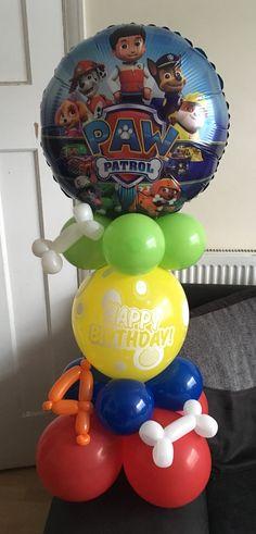 Paw Patrol Birthday Decorations, Paw Patrol Birthday Theme, Paw Patrol Party, Bear Birthday, 2nd Birthday Parties, Skye Paw Patrol Cake, Paw Patrol Gifts, Paw Patrol Cake Toppers, Daniel Tiger Birthday